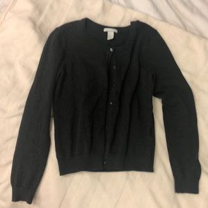 LIKE NEW Charcoal Cardigan with Buttons